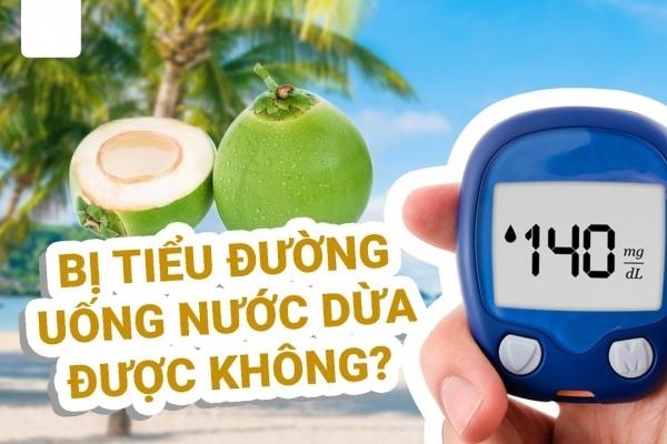 Người bị bệnh tiểu đường có được uống nước dừa không?